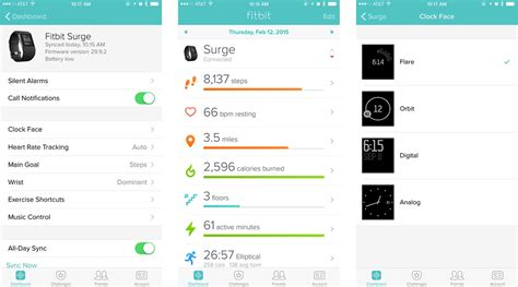 fitbit app for iphone fitbit surge fitness tracker review imore