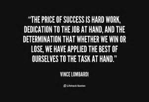 Vince Lombardi Quote Hard Work