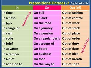 English With Life  Prepositional Phrases