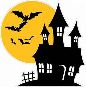 Halloween Haunted House with Bats Wall Decor Decal
