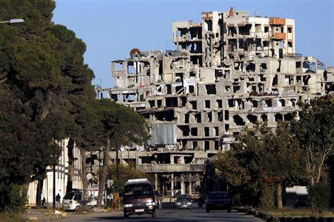 syria shattered city  homs returns  assad control