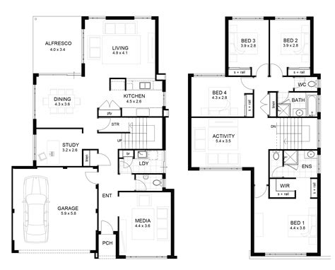 house plans two contemporary two home floor plans floor plan 2