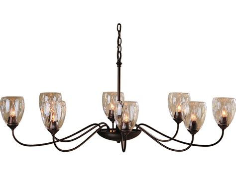 Oval Chandelier by Hubbardton Forge Oval 27 6 Wide Eight Light Incandescent