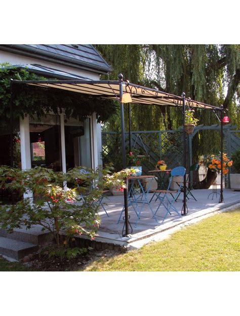 tonnelle adossable en fer forg 233 tonnelle et pergola m 233 tal jardin concept