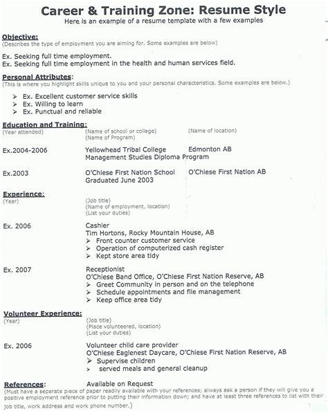 resume exle resume cv