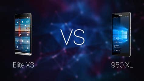 hp elite x3 vs lumia 950 xl specs comparison