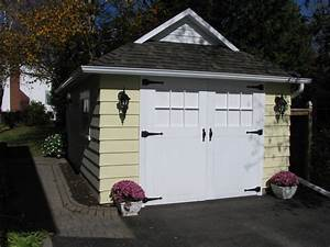 craftsman style garage doors Shed Craftsman with container