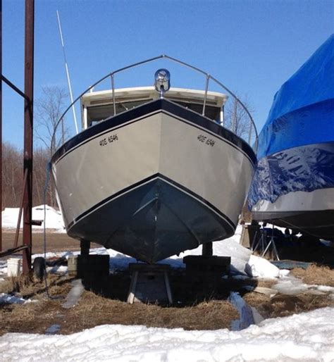Fishing Boat Dealers In Ontario by Custom Built Welded Aluminum Fishing Boat 1989 Used Boat