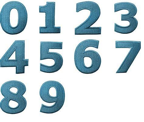 Zahlen Zum Aufnähen by Aufn 228 Aufb 252 Gler Zahl Ziffer Blau Alle Zahlen