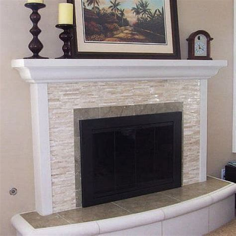 white glass tile fireplace surround house things