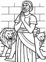 Daniel Den Lions Coloring Bible Lion God Pray Pages El Profeta Preschool Sunday Story Crafts Praying Para Colorear Clipart Leones sketch template