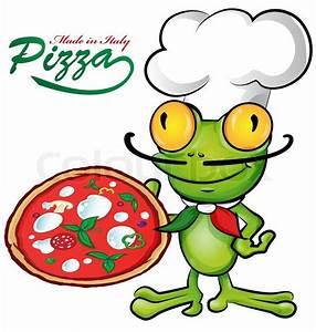 Frosch Bilder Lustig : chef frosch cartoon mit pizza vektorgrafik colourbox ~ Whattoseeinmadrid.com Haus und Dekorationen