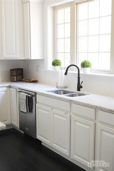 an easy kitchen update that makes a difference making lemonade