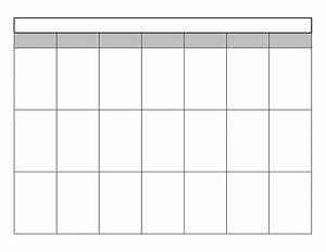 Full Page Calendar Template Templates Data