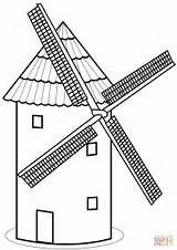 Coloring Mill Drawing Tower Paper Printable Bridge Drawings London Crafts Getdrawings sketch template