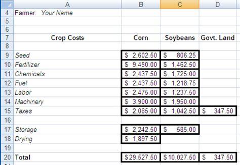crop calendars  digital  spreadsheets
