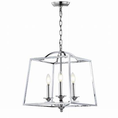 Chrome Metal Pendant Led Gloria Jonathan Lantern