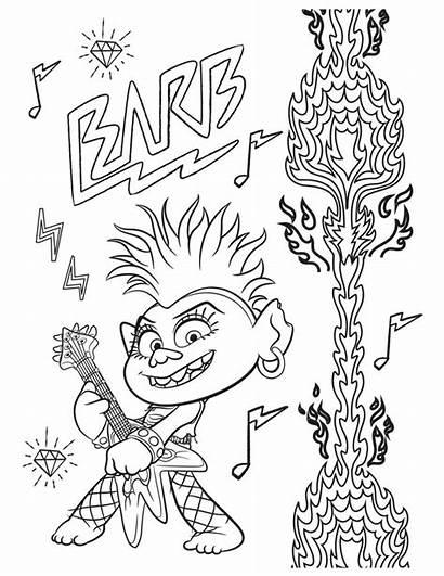 Trolls Coloring Tour Barb Queen Troll Rock