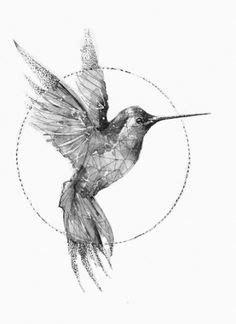 Black And White Hummingbird Tattoo Military Clipart | Just Free Image Download | Hummingbird