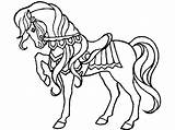 Horse Coloring Printable Pages Animals Preschool sketch template