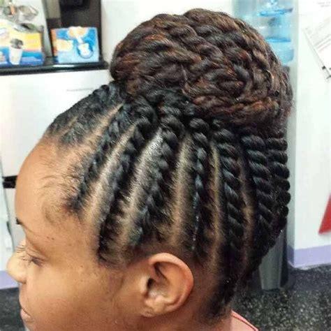 hair styles for black flat twist for american flat twist bun 4318
