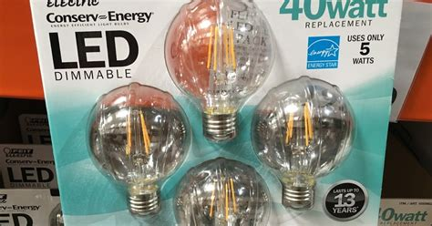 feit electric g25 globe 40 watt led 4 pack costco