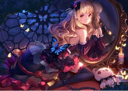 Anime Vocaloid Mayu Mirror Artwork Blonde Hair