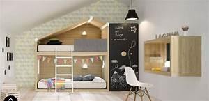 Cabane Enfant Chambre : lits superpos s cottage nordico chambre enfant lagrama ~ Teatrodelosmanantiales.com Idées de Décoration
