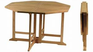 Table Salon Pliante : table en teck octogonale pliante grenadines ~ Teatrodelosmanantiales.com Idées de Décoration