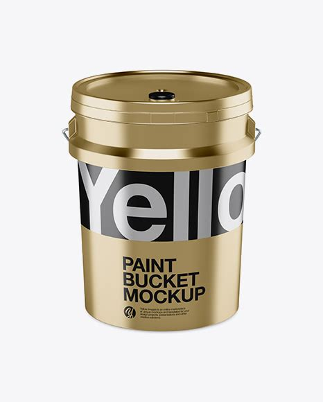 Take a glance how your design looks on this tin paint bucket. 5L Metallic Paint Bucket Mockup - Front View - 20L ...