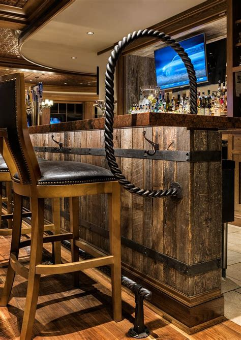 reclaimed barn wood   basement bar designs home