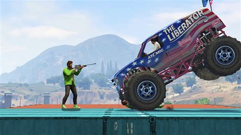 funny monster truck videos monster truck vs snipers gta 5 funny moments youtube