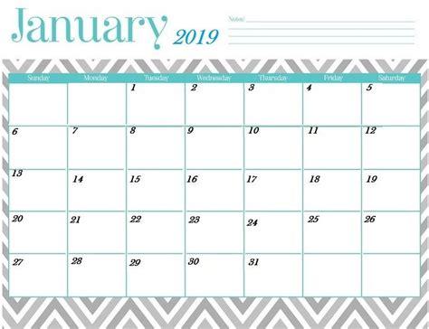 pretty printable calendar january january calendar