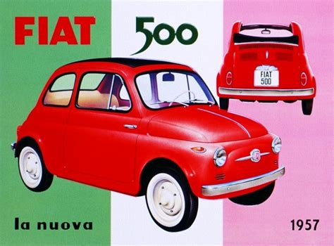 Fiat Sign by Fiat 500 Tin Signs Metal Signs Sold At Abposters