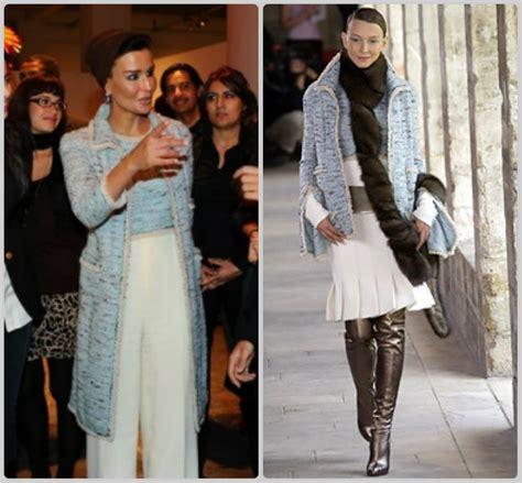 musa bint nasser al missned sheikha mozah bint nasser al missned charismatic fashionista in chanel couture autumn winter