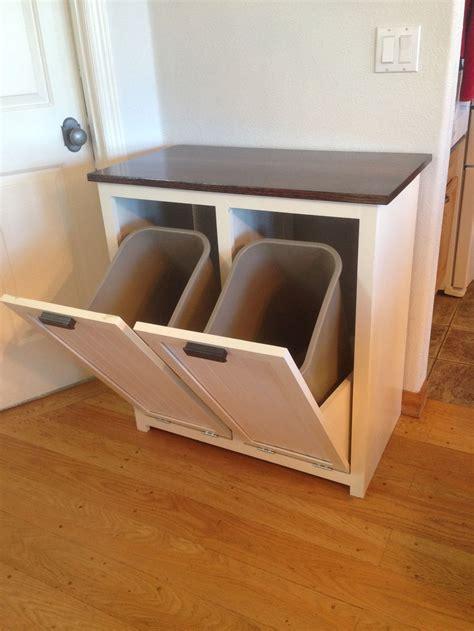 tilt  garbage  recycling cabinet diy furniture