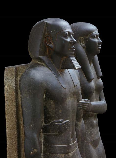 king menkaura mycerinus  queen museum  fine arts