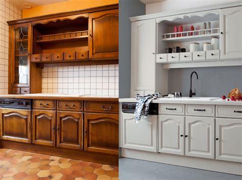 repeindre meuble cuisine en bois relooker votre cuisine