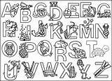 Alphabet Coloring Pages Animal Printable Getcolorings sketch template
