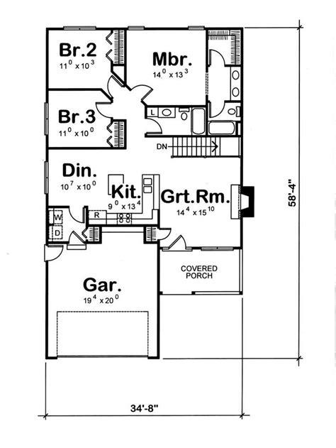 house plan    bedroom  sq ft bungalow