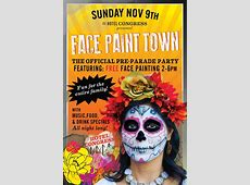 The All Souls Procession Preparty feat Face Paint Town