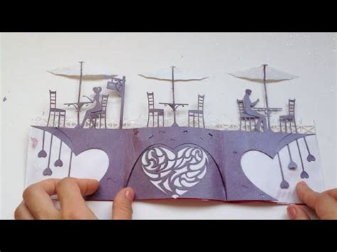 love story card valentine kirigami tutorial