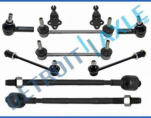 New 10pc Complete Front  U0026 Rear Suspension Kit For Infiniti