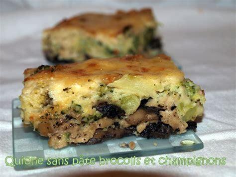 quiche sans pate brocolis quiche sans p 226 te brocolis et chignons dans vos assiettes