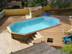 Piscine hors sol bois octogonale pas cher piscine for Piscine en bois semi enterree pas cher 6 acheter une piscine en bois pas cher