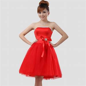 Short red wedding dresses sang maestro for Short red wedding dresses