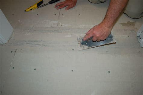 Hardie Tile Backer Board by Install Tile Backer Board On Sub Floor Icreatables