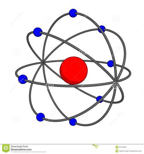 Atom model stock illustration. Image of scheme