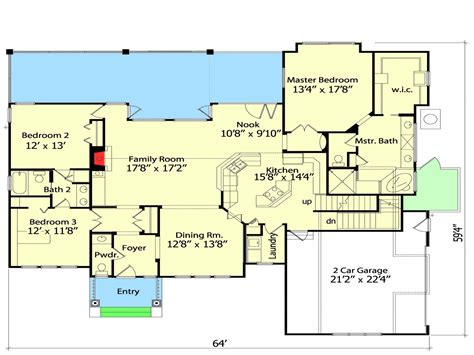 Small House Plans With Open Floor Plan Little House Floor