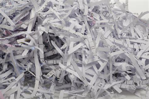 close   shredded paper  background stock image
